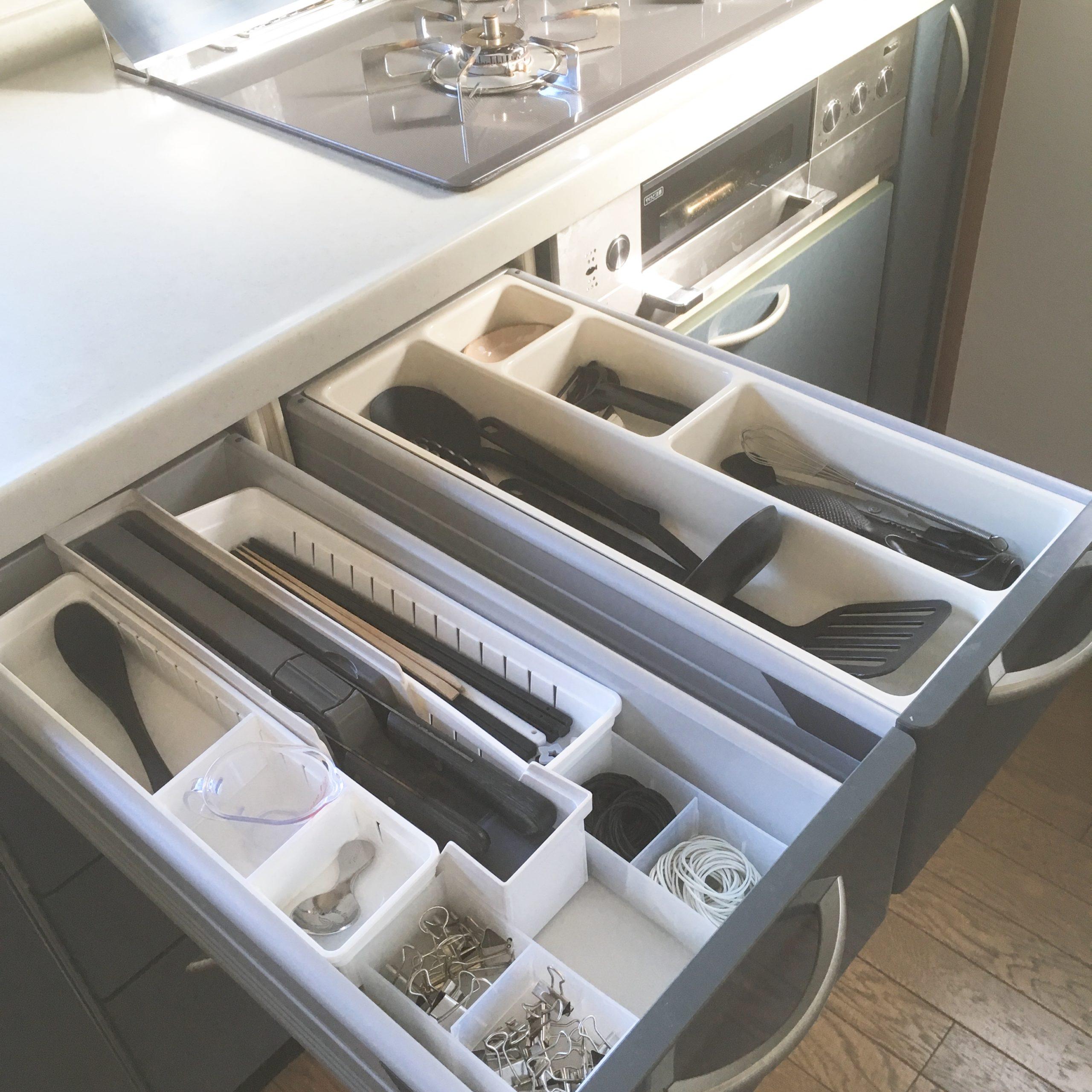 キッチンツールのざっくり収納は数がポイント